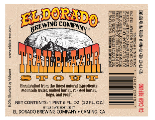 Label for Trailblazer Stout